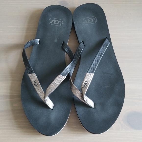 4501f448e81 UGG Magnolia Black Flip Flops, sz 9